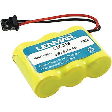 Lenmar® CBC316 Ni-MH 600 mAh Replacement Battery For Panasonic, Sony And Toshiba Cordless Phones
