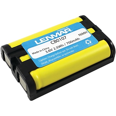 Lenmar® CB0107 Ni-MH 700 mAh Replacement Battery For Panasonic KX-TG Series Cordless Phones