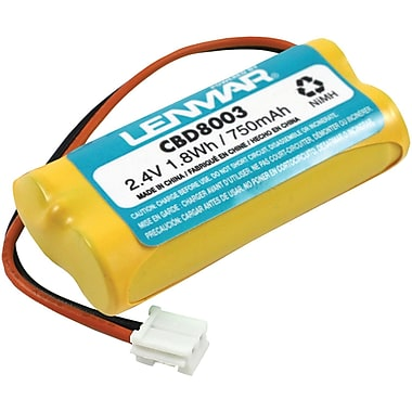 Lenmar® CBD8003 Ni-MH 750 mAh Replacement Battery For V-Tech 6010, 6031, 6032, 6041 Cordless Phones