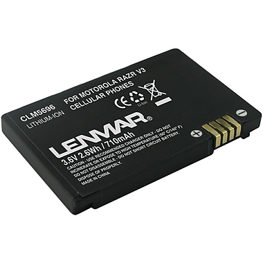 Lenmar® CLM5696 Lithium-ion Replacement Battery For Motorola MOTORAZR V3 Series Mobile Phones
