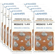Lenmar® HZA312 6-ct 60/PK Premium Zinc Air 297 mAh Hearing Aid Battery