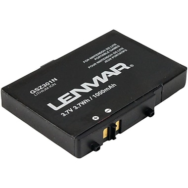 Lenmar® GSZ301N Replacement Battery For Nintendo DS Lite Gaming Systems, Black