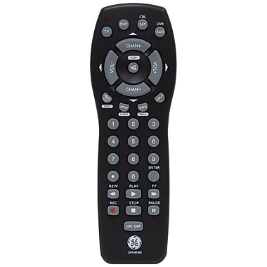 GE 24993 4-Device Universal Remote, Black
