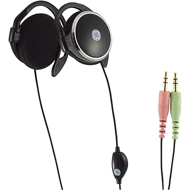 GE 26693 Voip Stereo Earclips Headphones With Inline Microphone