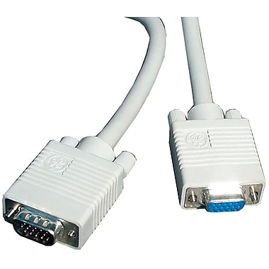 GE 10' Feet Computer Monitor Extension Cable, White