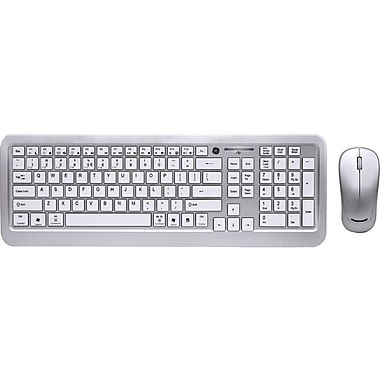 GE Multimedia Keyboard and Optical Mouse, White