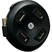GE 98209 4-Port Round Top Loading USB Hub