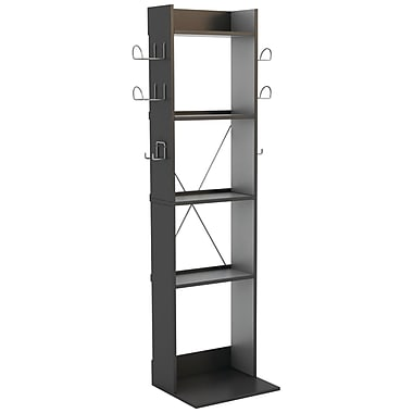 Atlantic Game Central 5 Shelves Tall Organizer, Black
