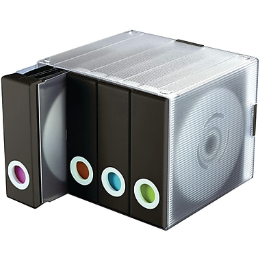 Atlantic® 96635496 96-Disc Album Cube, Black