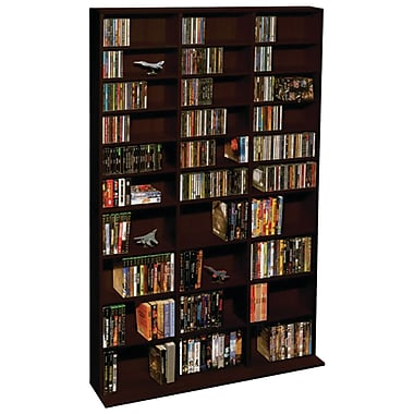 Atlantic® 38435714 Oskar 1080-CD Multimedia Storage Cabinet, Espresso