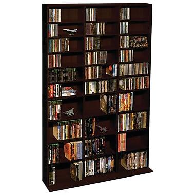 Atlantic® 38435714 Oskar 1080-CD Multimedia Storage Cabinet, Espresso