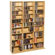 Atlantic® 38435715 Oskar 1080-CD Multimedia Storage Cabinet, Maple