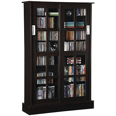 Atlantic® Windowpane Sliding Glass Door Multimedia Cabinet