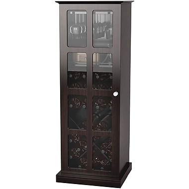 Atlantic® Windowpane 24 Wine Cabinet, Espresso