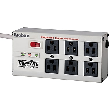 Tripp Lite ISOBAR® 6-Outlet 3330 Joule Surge Protector With 6' Cord
