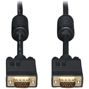 Tripp Lite 6' HD 15 Male/15 Male SVGA/VGA Monitor Extension Gold Cable With RGB Coax, Black