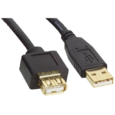 Tripp Lite 6' USB 2.0 Type A Male to Type A Female Extension Cable, Black