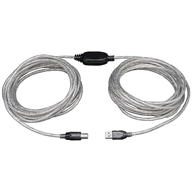 Tripp Lite 36' High Speed USB2.0 Active Device Cable, White/Black