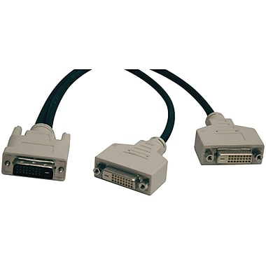 Tripp Lite TRPP564001 12in. DVI-D to DVI-D Splitter Cable, Black