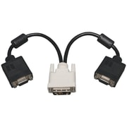 "Tripp Lite TRPP1200012 12"" DVI-A to VGA Y Splitter Adapter Cable, Black"