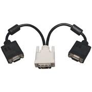 "Tripp Lite TRPP1200012 12"" DVI-A to VGA Y Splitter Adapter Cable, Black"