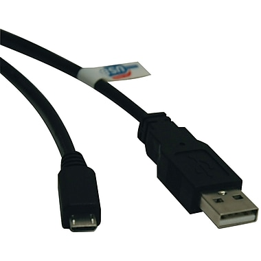 Tripp Lite 6' USB 2.0 Type A Male to Type B Male Device Cable, Black