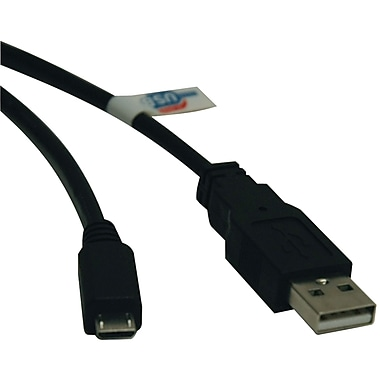 Tripp Lite 3' A-Male To B-Male USB 2.0 Micro USB Device Cable, Black