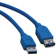 Tripp Lite 6' A-Male To A-Female USB 3.0 Super Speed Extension Cable, Blue