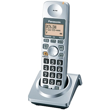 Panasonic® Kx-TGA101S Digital Cordless DECT 6.0 Handset, 50 Name/Number