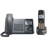 Panasonic® Kx-TG9391T Black Metallic Corded/Cordless Telephone With 1 Handset, 100 Name/Number