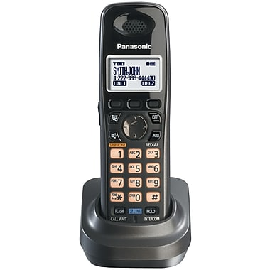 Panasonic® Kx-TGA939T Black Metallic Cordless Handset For The Kx-TG939 Series, 100 Name/Number