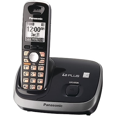Panasonic® Kx-TG6511 Black Cordless Phone With 1 Handset, 50 Name/Number
