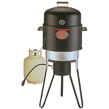 Brinkmann® All-In-One Gas and Charcoal Single Burner Smoker (Grill and Fryer)