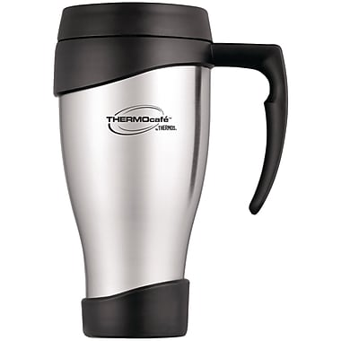Thermos® Cafe 24 oz. Stainless Steel Travel Mug, Black/Silver