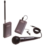 Audio-Technica® ATR-288W VHF TwinMic™ System With Battery Powered Receiver and Transmitter
