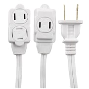 GE 12' 3-Outlet Extension Cord, White