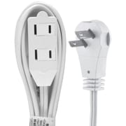 GE 6' 2-Outlet Wall Hugger Extension Cord, White