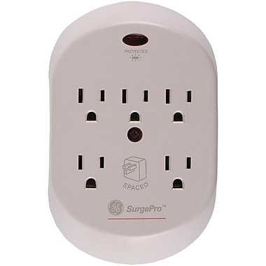 GE 5-Outlet 566 Joule In-Wall Surge Protector