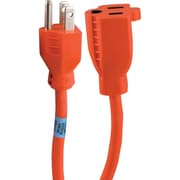 GE 9' 1-Outlet Indoor/Outdoor Extension Cord, Orange