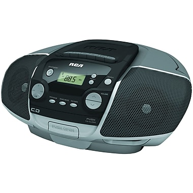 RCA® RCD175 Portable CD Boom Box With Cassette Player
