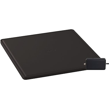 RCA ANT1650R Digital Flat Antenna With Removable Amplifier, Black