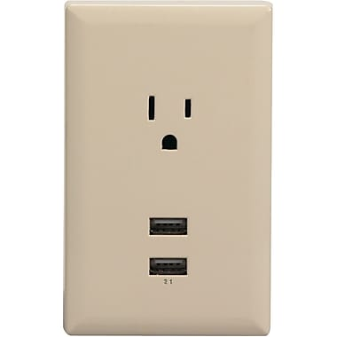RCA® WP2UAR USB Wall Plate Charger