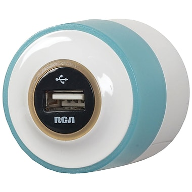 RCA® Night Glow USB Home and Travel Charger, Blue
