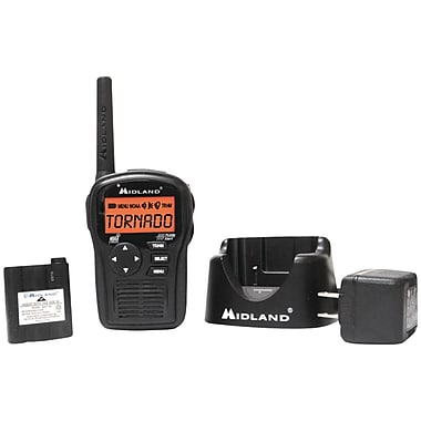 Midland Radio® HH54VP2 Black SAME All-hazard Handheld Weather Alert Radio