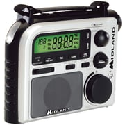 Midland Radio® ER102 Black and White Emergency Crank Radio With Am/Fm/Weather Alert