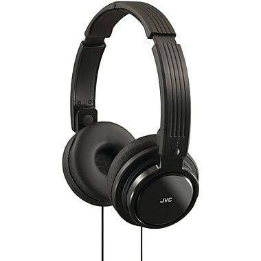 JVC® Riptidz Portable On-Ear Headband Headphones, Black