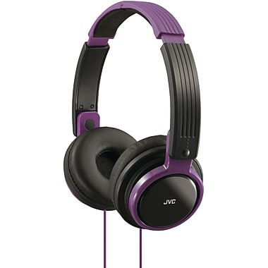 JVC® Riptidz Portable On-Ear Headband Headphones, Violet