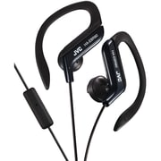 JVC® Sport-clip In-Ear Headphones With Microphone and Remote, Black