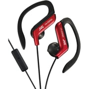 JVC HA-EBR80R Stereo Sport-clip In-Ear Headphone with Mic and Remote, Red