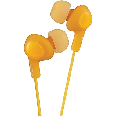 JVC® Gummy Plus In-Ear Headphones With Remote and Mic, Orange